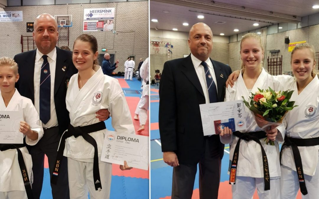 Kai Sei karateka Sarah, Mex en Colin slagen op danexamens