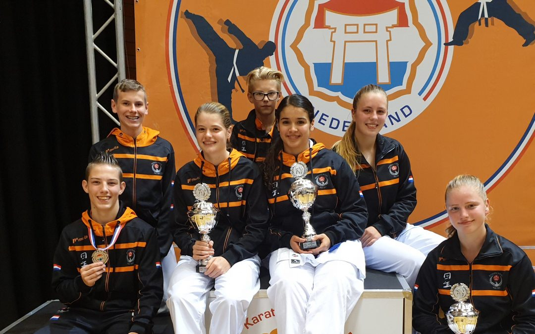 Vier goud en één zilver op ONJK voor karateka Kai Sei