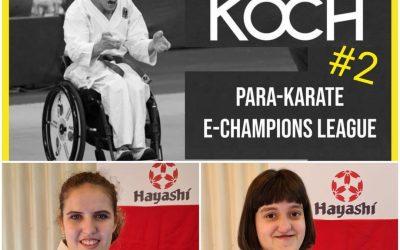 Iske en Elise scoren op Edeka Koch Para-Karate eChampions League 2021