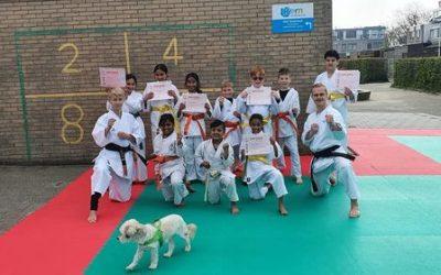 Karate en Judo examens bij Kai Sei