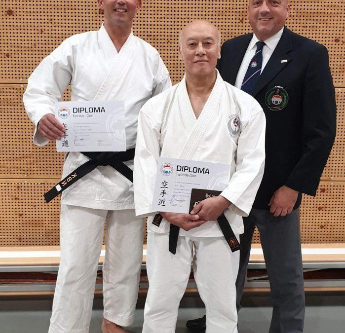 Kai Sei karateka Nico en Ralph slagen op danexamens